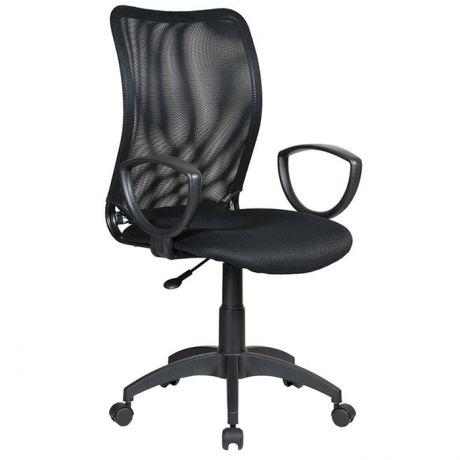 Кресло оператора Бюрократ CH-599AXSN/TW-11 спинка сетка черная, сиденье ткань черная