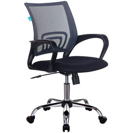 Кресло оператора Бюрократ CH-695N, CH, спинка сетка темно-серый TW-04, сиденье ткань черный TW-11, механизм качания (до 150кг)