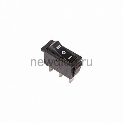 Выключатель клавишный 250V 10А (3с) ON-OFF-ON черный  с нейтралью  (RWB-411, SC-791)  REXANT