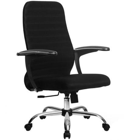 Кресло оператора Метта SU-СM-10, CH, ткань черная/черная, топ-ган