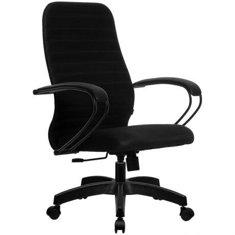 Кресло оператора Метта SU-СP-10 PL, ткань черная №20, низкая спинка-сетка, топ-ган
