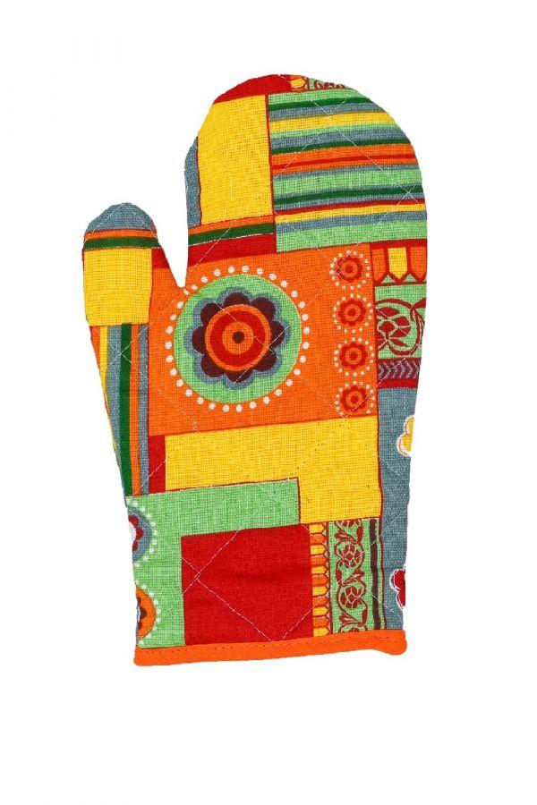Набор прихваток-рукавичек Мари Санна Орнамент [желтый]