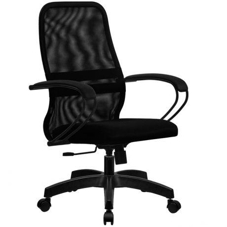 Кресло оператора Метта SU-СP-8 PL, ткань-сетка черная №20, низкая спинка-сетка, топ-ган