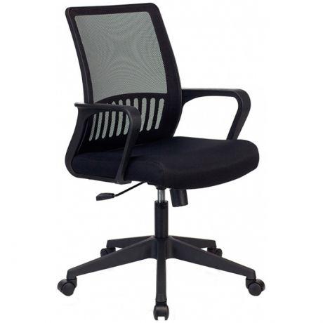 Кресло оператора Бюрократ MC-201, PL, спинка сетка черный, сиденье ткань-сетка черный TW-11, механизм качания