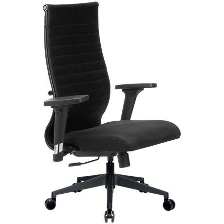 Кресло оператора Метта Комплект 19/2D, PL2, ткань черная/черная, топ-ган