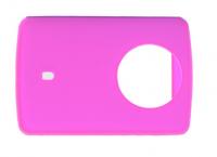 Защитный кейс + крышка на объектив для  Xiaomi Yi 2 4K XRS-XM56 ( Силикон / Розовый)
