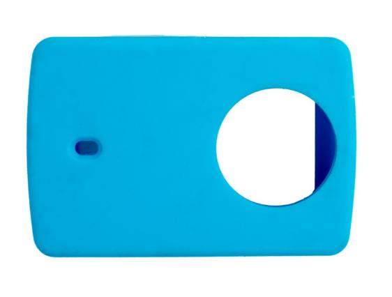 Защитный кейс + крышка на объектив для  Xiaomi Yi 2 4K XRS-XM56 ( Силикон / Голубой)
