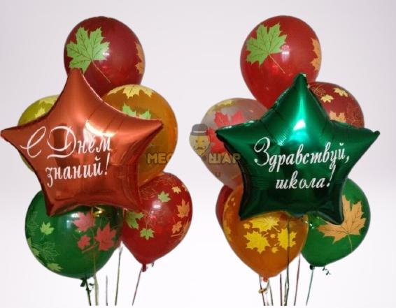 """2 фонтана по 8 шаров """"Школьнику"""""""