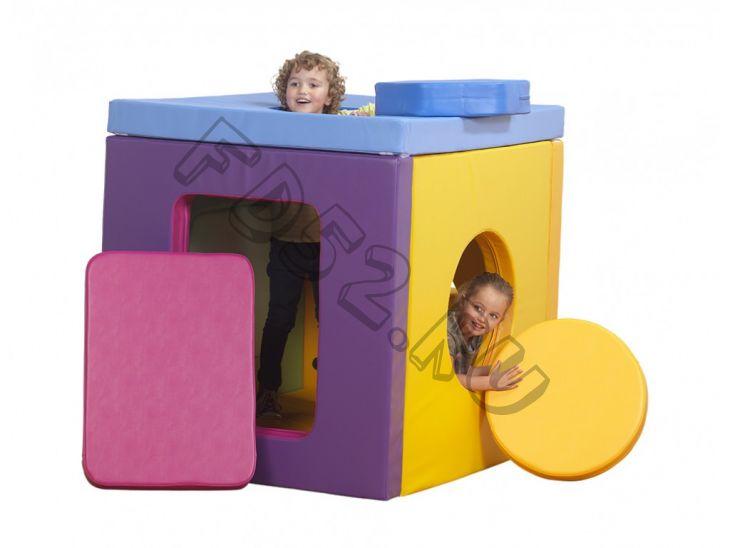 Игровой мягкий модуль Домик-Куб трансформируется в маты
