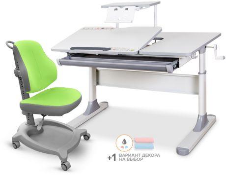 Комплект Mealux парта Vancouver Multicolor Lite с полкой + кресло ErgoKids Y-402