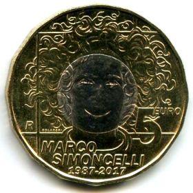 Сан-Марино 5 евро 2017