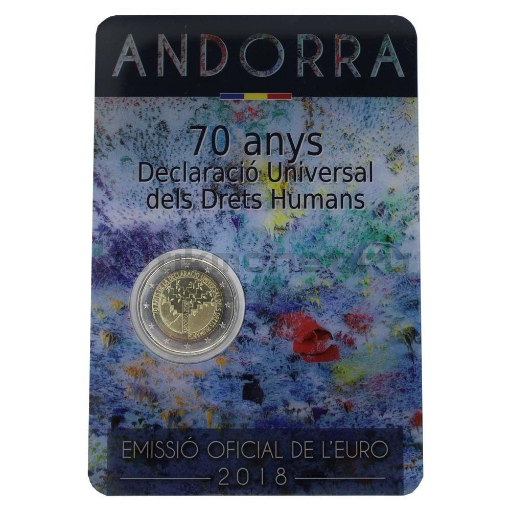 2 евро 2018 Андорра 70 лет Всеобщей декларации прав человека (В буклете)