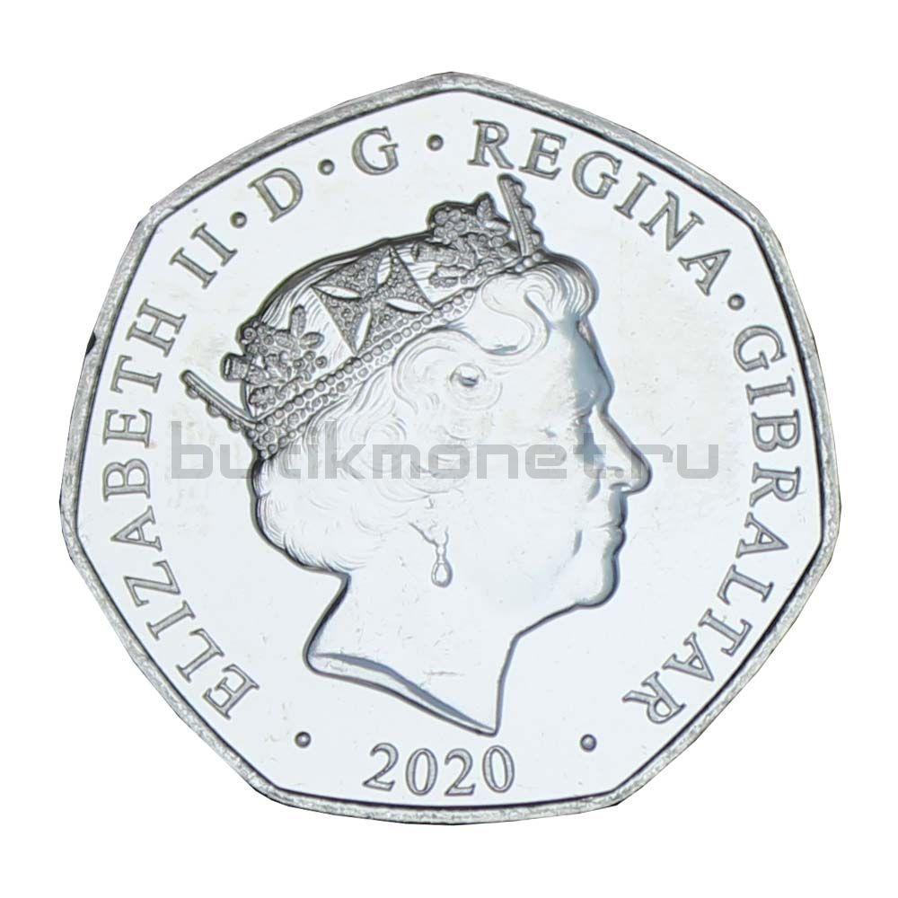 50 пенсов 2020 Гибралтар Рождество