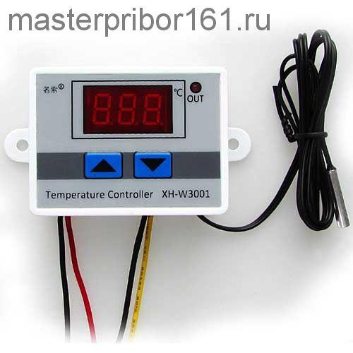Цифровой регулятор температуры XH-W3001 (-50 °C ~ +110 °C) пит.12в