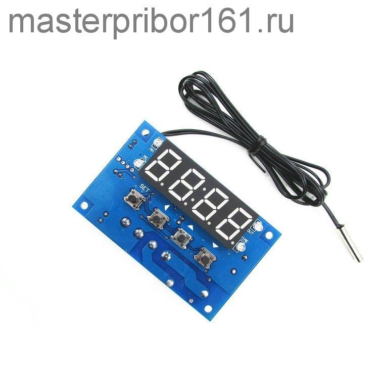Цифровой терморегулятор XTW-W1304 12V с Часами
