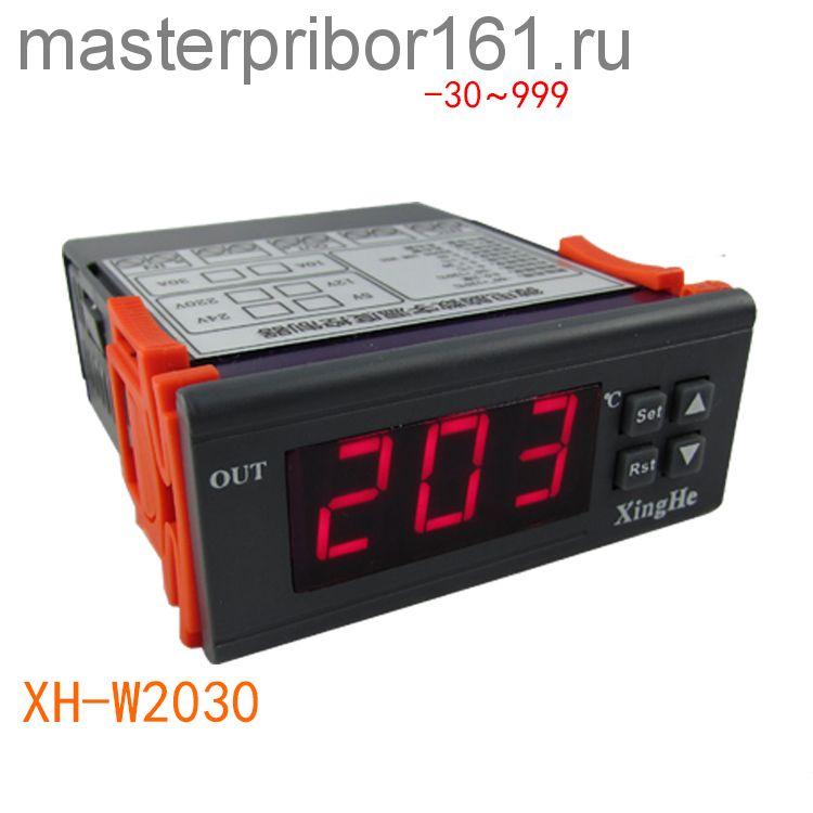 Регулятор температуры XH-W2030 , -30C +999C , AC220V