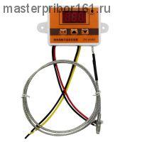 Цифровой термостат 12B DC с выносным датчиком, 0°C..+450°C, ZFX-W3003