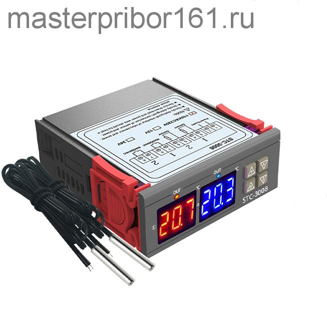 Двойной терморегулятор STC-3008  -55? ...+ 120?  пит: DC24V