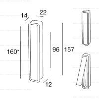 Pamar MN1032 Z ручка для раздвижных дверей схема