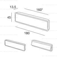 Pamar MN959 Z ручка для раздвижных дверей схема