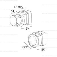 Pamar PO2015 Z ручка для раздвижных дверей схема