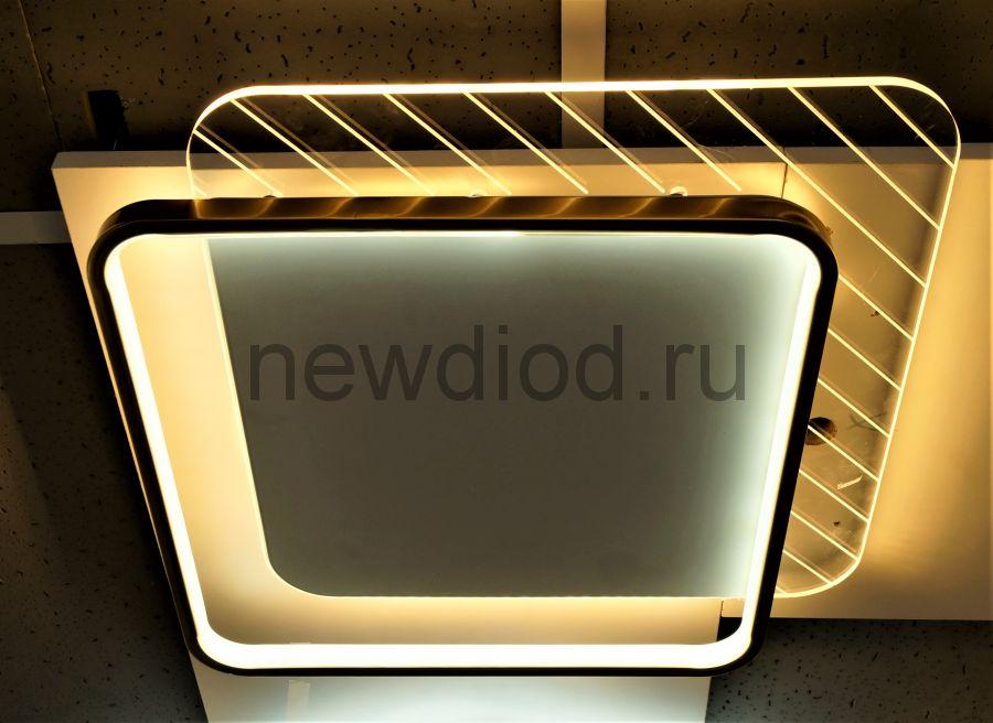 Управляемый светодиодный светильник GEOMETRIA Y9255-2 90Вт-23м² 500мм 6/3/4000K пульт Oreol