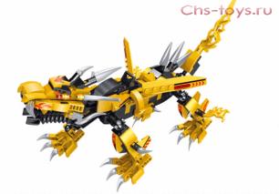 """Конструктор PRCK Ниндзя """"Желтый робот ниндзя"""" 31066 431 дет."""