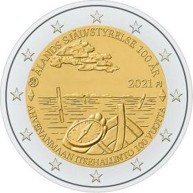 100 лет со дня самоуправления Аландских островов 2 евро Финляндия 2021
