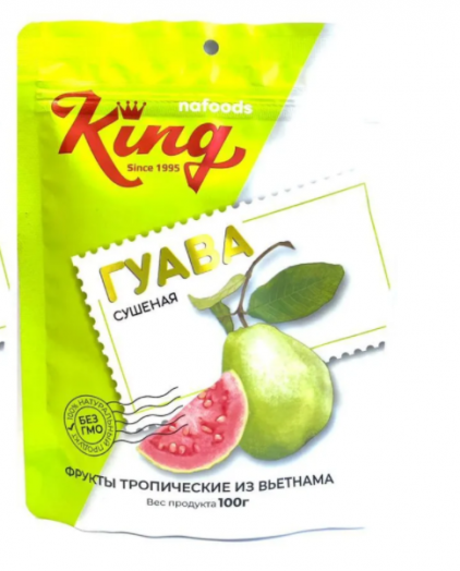 KING Гуава сушеная 100 гр пакет