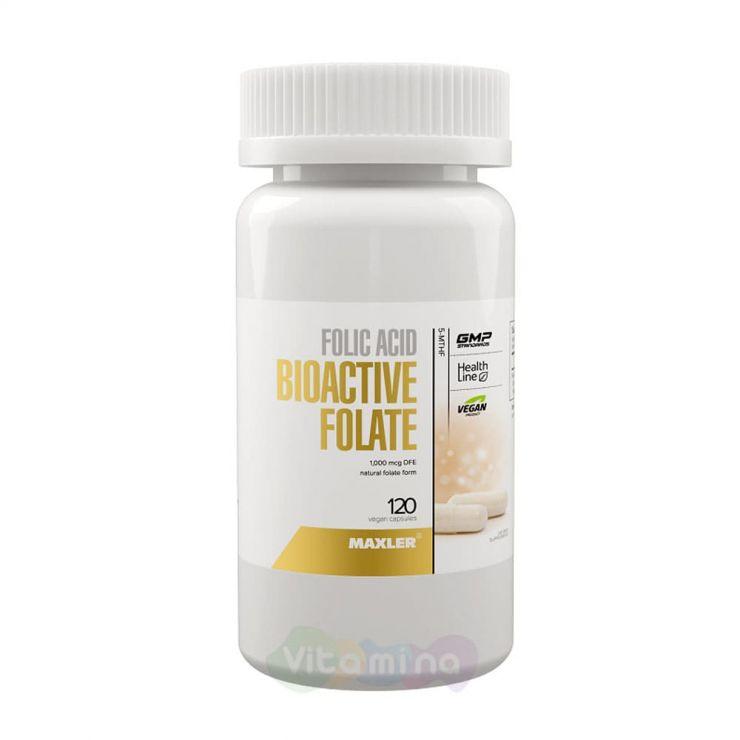 MAXLER Биоактивный фолат Folic Acid Bioactive Folate, 120 капс