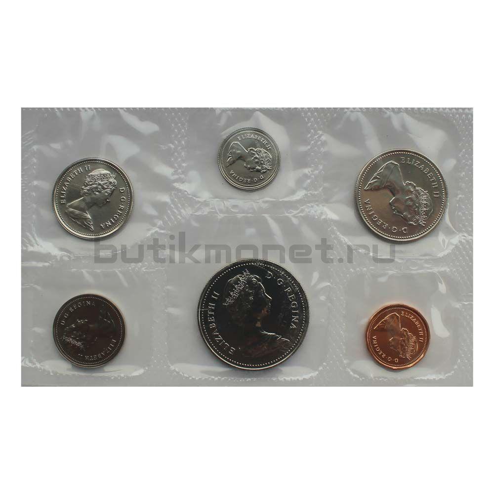 Официальный годовой набор монет 1985 Канада  (6 монет в запайке)