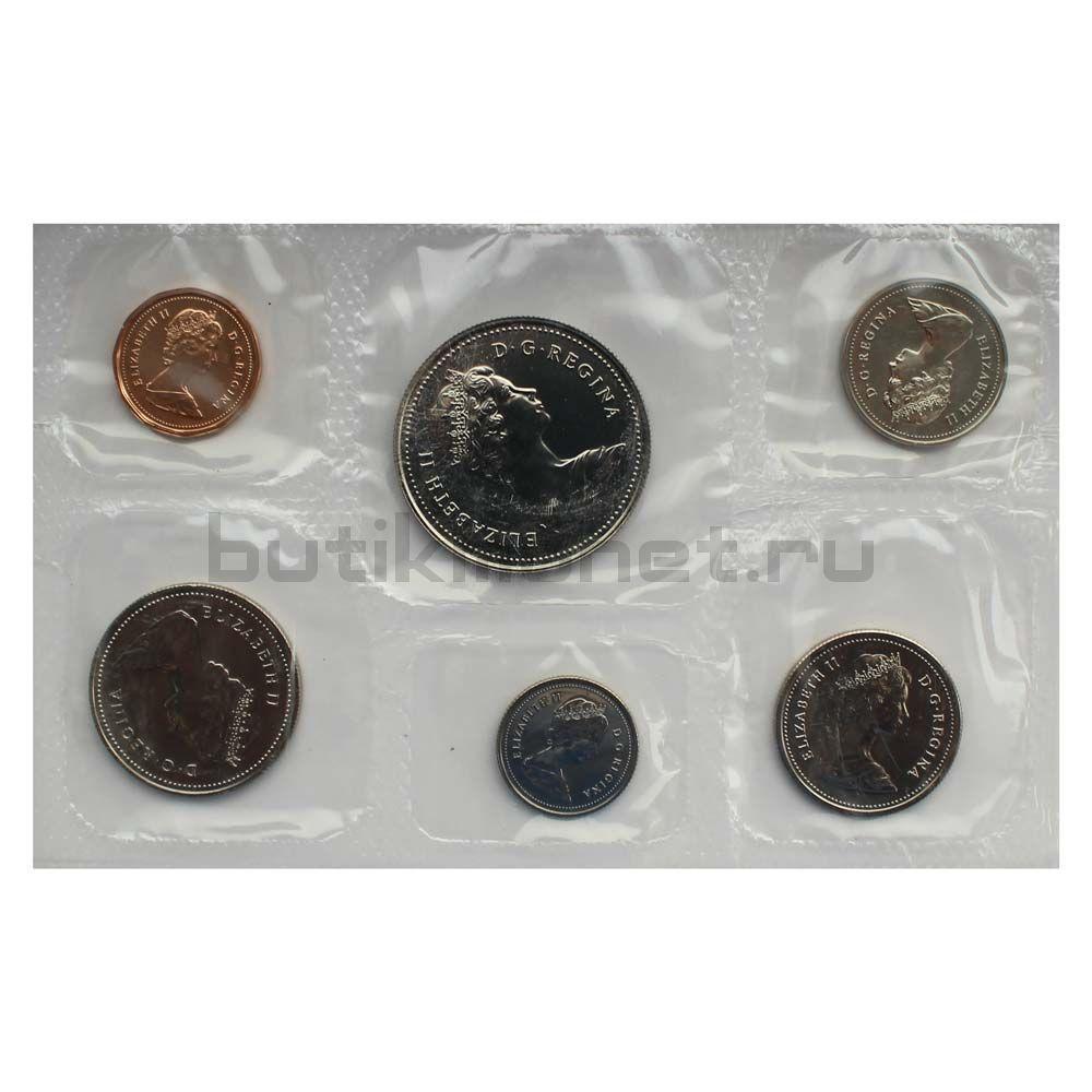 Официальный годовой набор монет 1984 Канада  (6 монет в запайке)