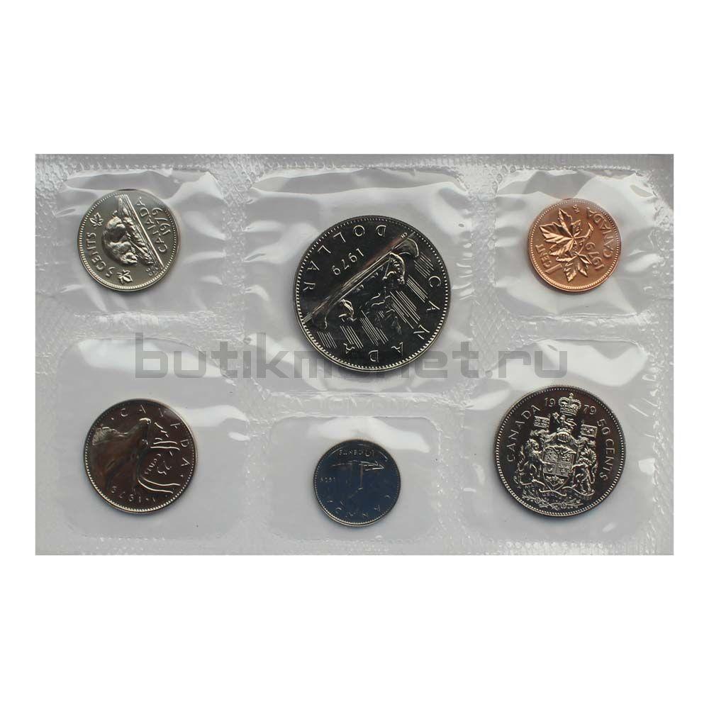 Официальный годовой набор монет 1979 Канада  (6 монет в запайке)