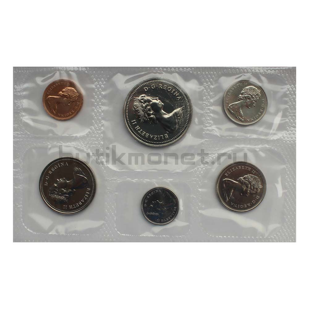 Официальный годовой набор монет 1978 Канада  (6 монет в запайке)