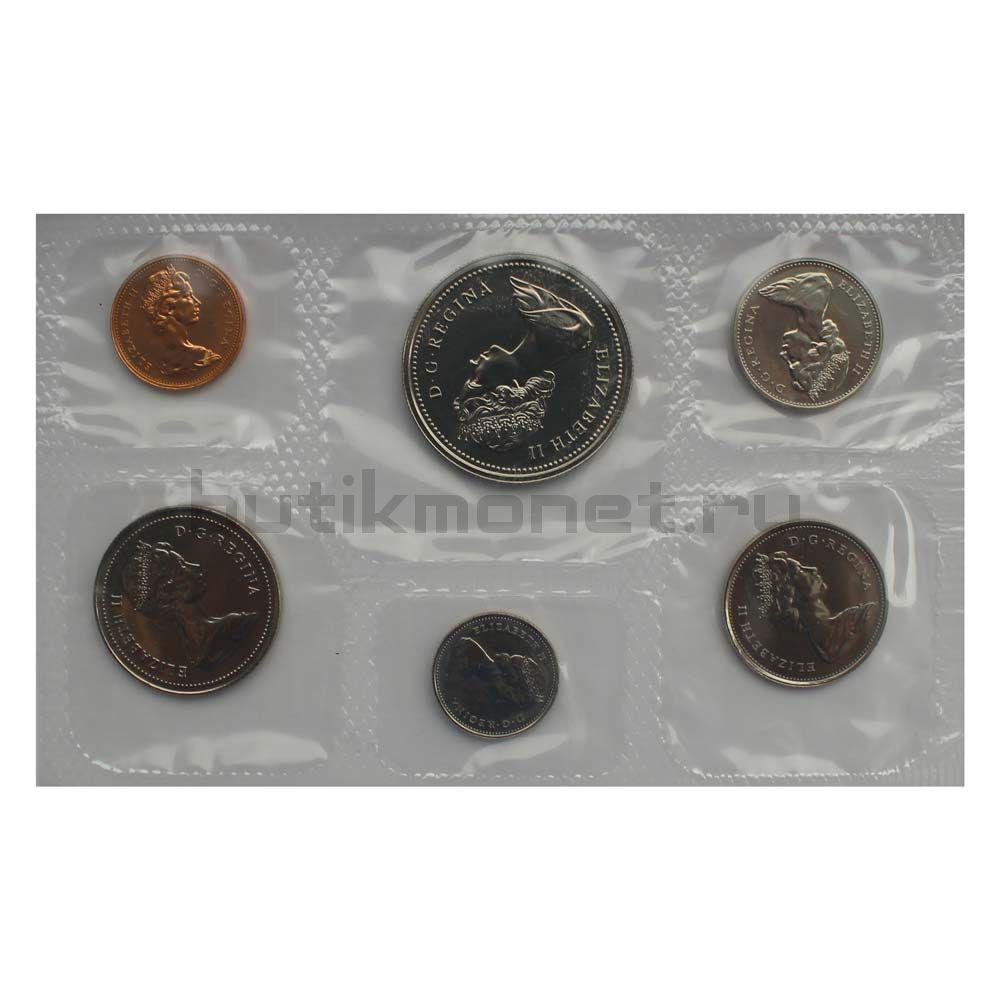 Официальный годовой набор монет 1977 Канада  (6 монет в запайке)