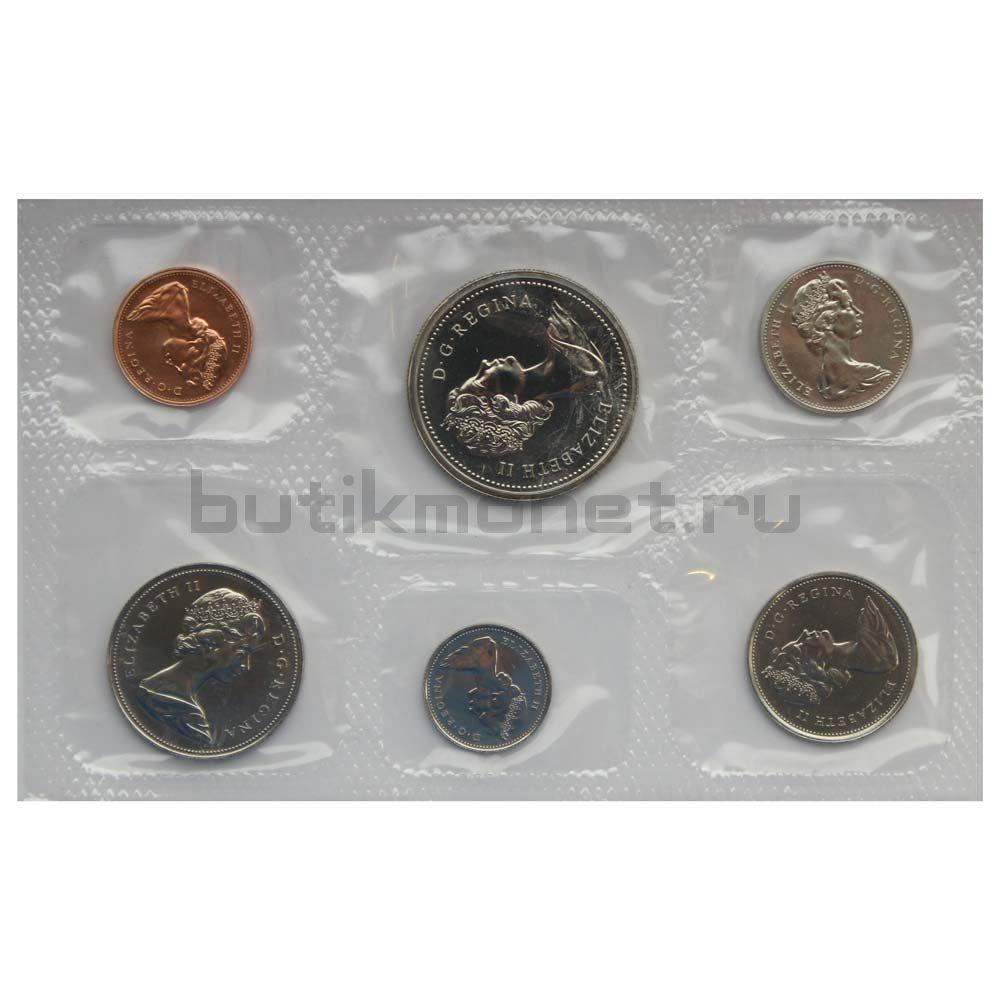 Официальный годовой набор монет 1976 Канада  (6 монет в запайке)