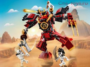 Конструктор Lari Ниндзя Робот-Самурай 11159 (70665) 160 дет