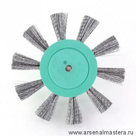 401.132-0004 Щетка дисковая Д 100 х 23 хвостовик 6 мм ворс гофр оцинкованная сталь 0,30 мм OSBORN