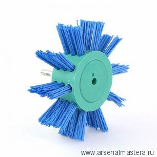 401.912-0011 Щетка дисковая Д 100 х 23 хвостовик 6 мм ворс синий полимер-абразив P180 OSBORN