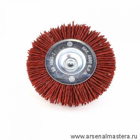 600.491-0802 Щетка дисковая Д 75 х 10 хвостовик 6 мм ворс красный полимер-абразив P80 OSBORN