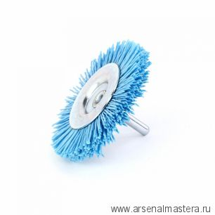 600.491-0182 Щетка дисковая Д 75 х 10 хвостовик 6 мм ворс синий полимер-абразив P180 OSBORN