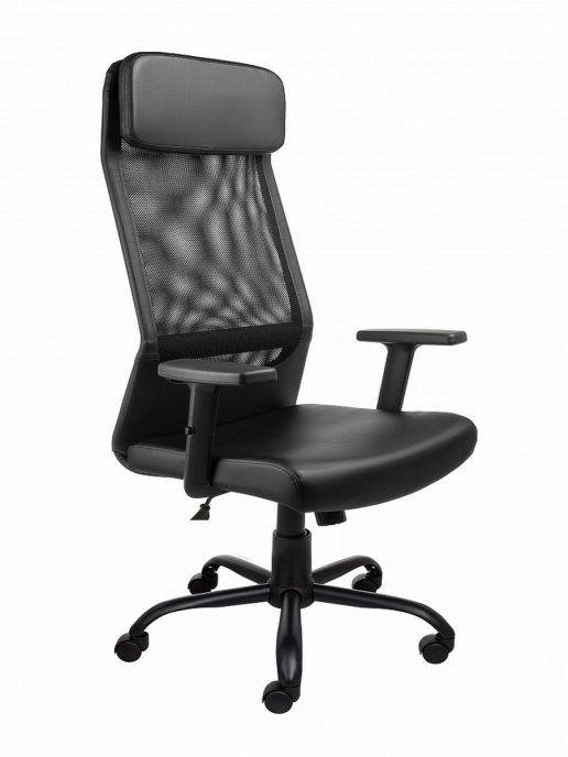 Кресло Алвест AV 159 ML (819) МК эко/сетка односл 223/470 Чёрное