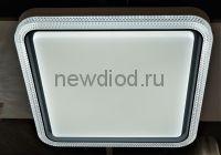 Управляемый светодиодный светильник Dino 2602 квадрат 60Вт-17м² 500мм 6/3/4000K пульт Oreol