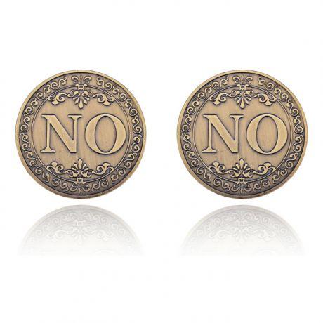Сувенирная монета-розыгрыш Всегда говори НЕТ, d.4см