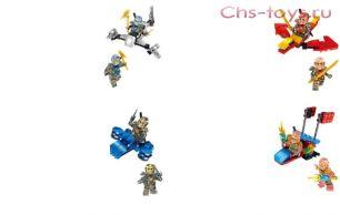"""Набор из 4 конструкторов LOHO """"Ninja"""" SX3002 (Реплика Lego Ninjago) 47-55 дет."""