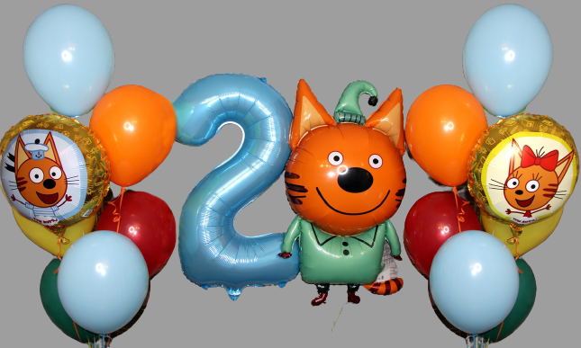 Набор шаров три кота