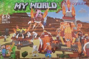Конструктор LEZI My World Битва 93063 350дет.