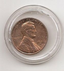1 цент (регулярный выпуск) США 1974 двор S