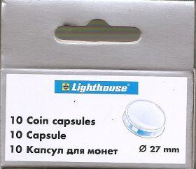 Круглые капсулы диаметром для монеты 27 mm, упаковка 10 шт.