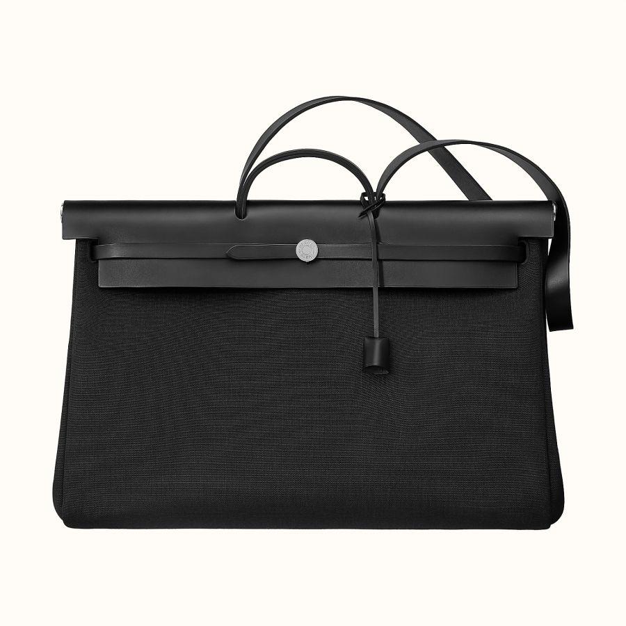 Сумка Hermes Zip retourne cabine bag (Noir/Noir)